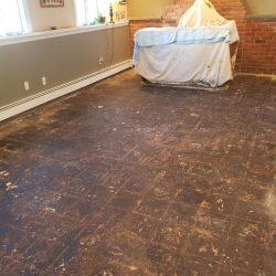 Asbestos Mastic Floor