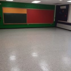 Classroom Floor Finished With Perfect Primer And Flake Floor
