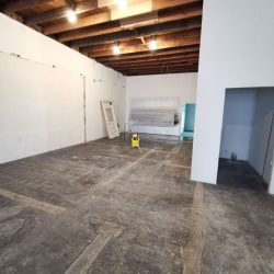 Warehouse Floor With Black Mastic