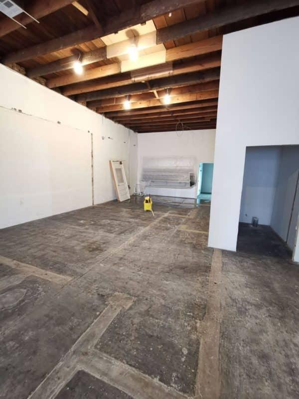 Warehouse-floor-Black-mastic