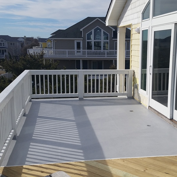 rubberdecky application on second floor deck