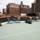 SandRich on Manhattan Roof Deck