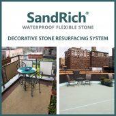 SandRich waterproof flexible stone – decorative stone resurfacing system