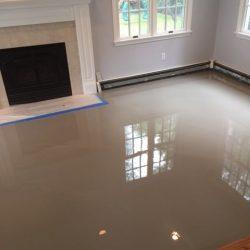 Wood Floor Finished With Epoxy Finish