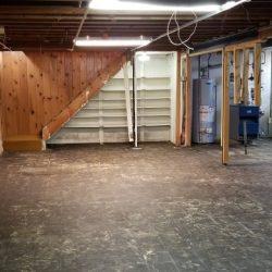 Basement Floor W/ Mastic